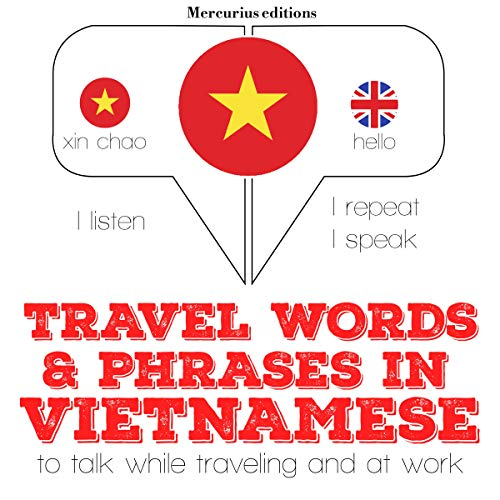 Travel words and phrases in Vietnamese audiobook cover art