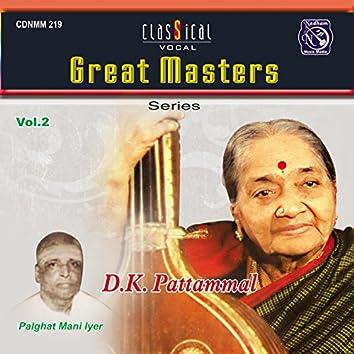 Great Masters - Pattammal D K. Vol.2