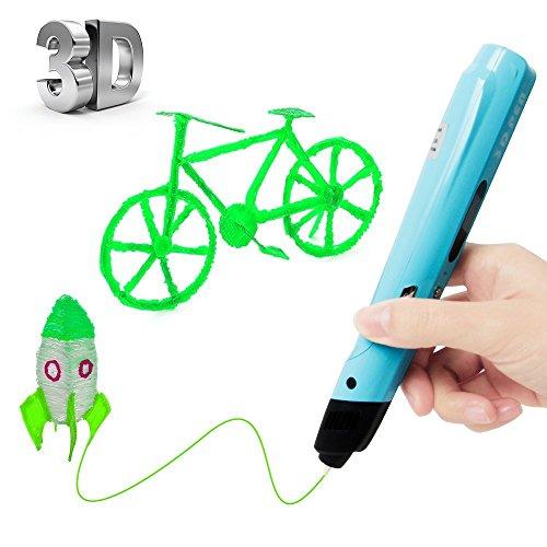 Uvistare 3D Drucker Stift Set 3D Stereoscopic Printing Pen Drawing, 3 x 3M...