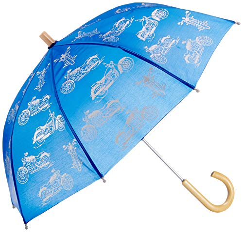 Hatley Jungen Printed Umbrellas Regenschirm, Blau (Motorcycles 400), One size