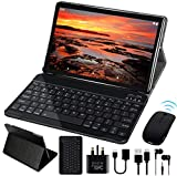 GOODTEL 10'' Tablet Android 9.0 Pie OS, G3 Tablets with Quad-Core 4GB RAM + 64GB ROM, Dual Cameras ( 5MP + 8MP ) | Wi-Fi | HD IPS Display | Type-C | Bluetooth 4.0 | Keyboard | Mouse - Grey
