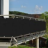 HMGDFUE Malla Protectora Balcon, Pantalla para Balcon Jardín Protección de Privacidad PES Resistente a los Rayos UV Protección contra el Viento, con Ataduras de Cables 90 * 500cm (2.95ft x 16.40ft)