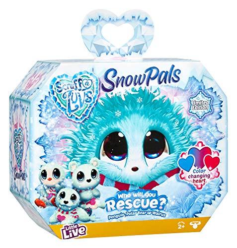 Scruff-a-Luvs Snow Pals Assortment- Rescue Pet Soft Toy - Limited Edition Walrus, Penguin, Polar Bear, Multi-Colour