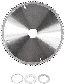 Cirkulär skiva Saw Replacement Hjuldiameter 210mm 30mm 80 tänder med Reduction Rings för träbearbetning Rotary ToolRepair ...