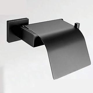 Tirador De Papel Higiénico Cuadrado Cuadrado Negro Mate Papel De Rollo Resistente Al Agua Soporte Del