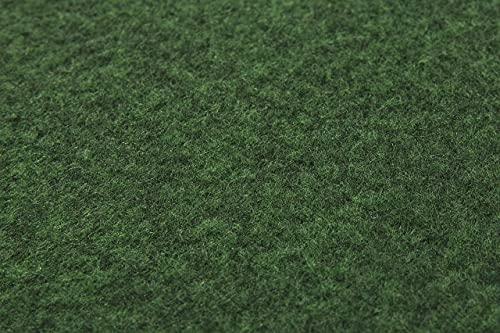 misento Rasenteppich Easy Kunstrasen strapazierfähig, robust, pflegeleicht mit Drainage Noppen grün 133 x 300 cm