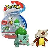 Pack de deux figurines Pokémon Personnages : Osselait et Bulbizarre Figurines articulées 3-5 cm Collectionnez toutes les figurines Pokémon de Bandai