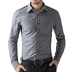 U-TURN Mens Cotton Solid Full Sleeve Shirts…
