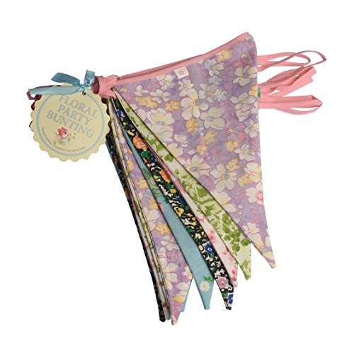 Vintage Floral Washable Double Sided Cotton Bunting