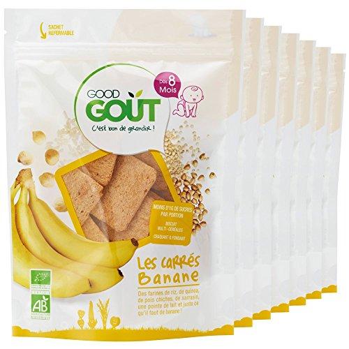 Good Goût - BIO - Les Carrés Banane 50 g - Pack de 7