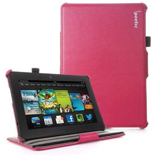 POETIC Strapback Schutzhülle mit Smart Cover Auto Sleep und Wake-Funktion für alle neuen Kindle Fire HD 72nd Generation 201317,8cm Tablet, Karbonfaser-Magenta