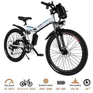 fiugsed Elektrofahrrad Mountainbike 26 Zoll E-Bike 36V, 250W Das-Kit Heckmotor, Elektrofahrräder mit 21-Gang Nabenschaltung