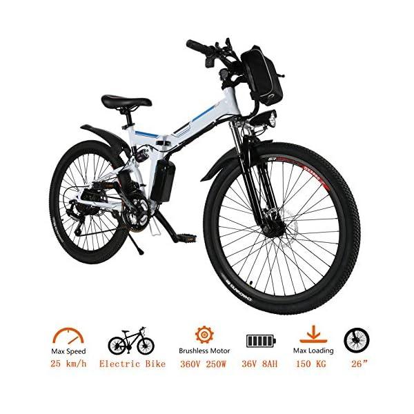51oexVoscrL. SS600  - fiugsed Elektrofahrrad Mountainbike 26 Zoll E-Bike 36V, 250W Das-Kit Heckmotor, Elektrofahrräder mit 21-Gang Nabenschaltung