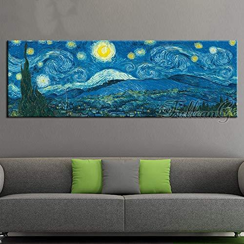 diamond painting 60x80 DIY 5D Diamond Painting Kits Full Drill Notte stellata di Van Gogh 30x60cm Grandi Completo Pittura Diamante Ricamo numero Adulti/Bambini Large Punto Croce Strass Cristallo Immagini per Decor Home Wall