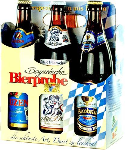 Genussleben Bier Mix 4,5% - 5,5% vol. 12x 0,5l (Bayrische Bierprobe 12er), Bierset, Biergeschenk für Männer mit verschiedenen Biersorten