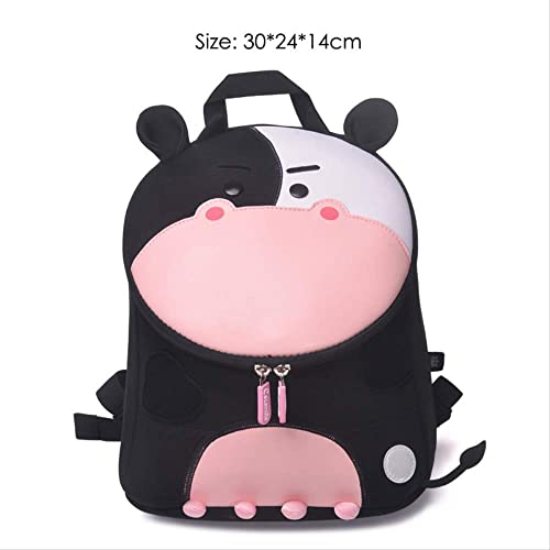 Hpadr Kinder backpackfashion schultaschen für mädchen Jungen sch  Tiere Design wasserdichte Kinder rucks e w Cow