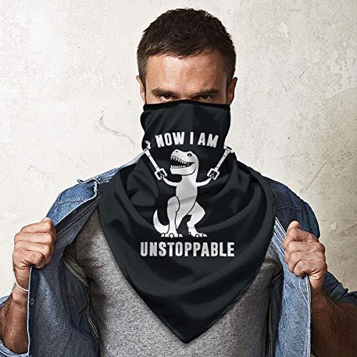 QsuNa Now I Am Unstoppable Winddichter Gesichtsschal Mundschutz Multi-Kopfbedeckung Halstuch Sturmhaube