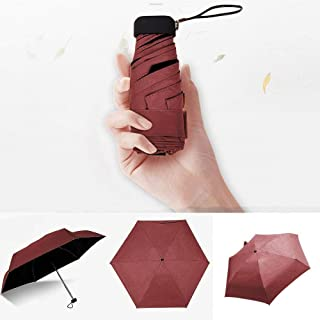 Mini Pocket Umbrella Mini Folding Sun Umbrellas Umbrella Candy Color Traveling Rain Gear UV Protection Windproof