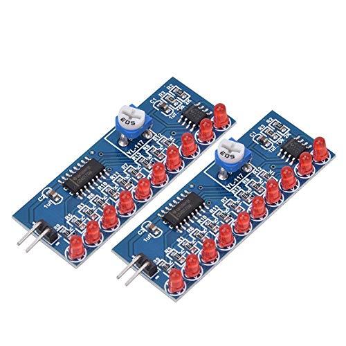 2 stuks ne555 + cd4017 module water vloeiend LED-licht elektronische productie-uitstraling rood knipperend licht lamp DIY kit elektronische schakeling