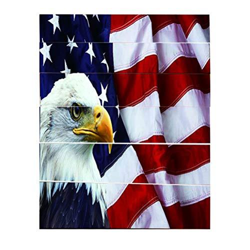 LIOOBO 4. Juli Amerikanische Flagge Adler Wandaufkleber patriotische Wandtattoos Fensterbilder 4. Juli Wanddekorationen Party Favors Supplies