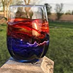 Painted-Wine-Glass-Stemless-Sunset