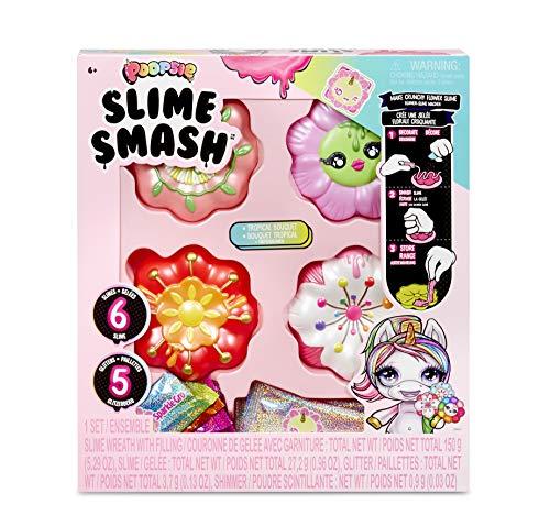 Poopsie Slime Smash 117162E7C Tropical Bouquet Schleim Set mit Glitzer und vier Schleimdosen in Blumenoptik