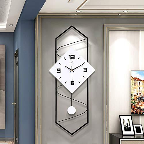 qwqqaq Moderne Wanduhr Mit Pendel, Massivholz Große Zifferblatt Wohnzimmer Uhr, Sweep-Bewegung Nicht-tickt Mute Quartz Wanduhr-b 30x70cm(12x28inch)