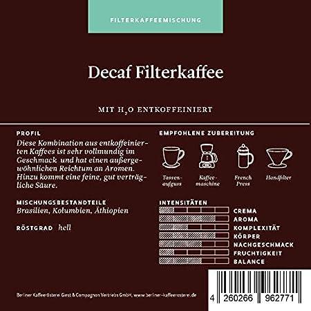 Berliner Kaffeerösterei Filterkaffee Decaf (entkoffeiniert)