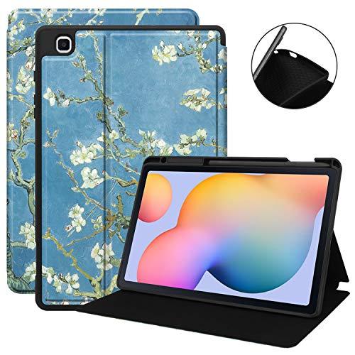 VOVIPO Ultra Slim TPU Backshell Folio Stand Cover mit verschiedenen Betrachtungswinkeln für Galaxy Tab S6 Lite 10.4 SM-P610/P615