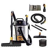 Aspirador de Pó e Água WAP GTW INOX 20 1600W 20 Litros 160 mbar Barril Aço Inox com Soprador 127V