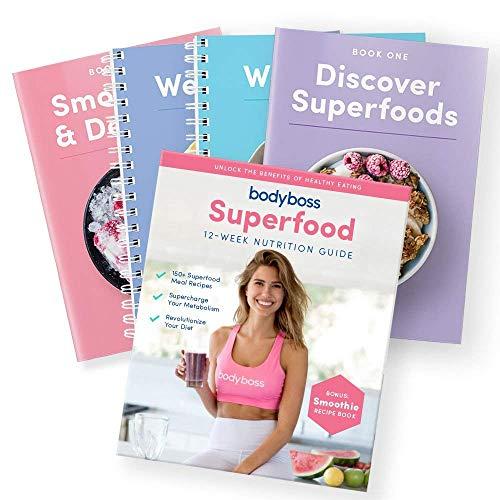 BodyBoss Superfood - Guía de nutrición con libro de recetas para batidos y postres