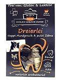 Qchefs Dreierlei |Hunde Zahnpflege-Snack| Zahnsteinentferner| Hundeleckerli- kleine & große & Allergiker| Leckerli gegen Mundgeruch & Zahnfleischentzündung| Hüttenkäse- natürlich antibakteriell
