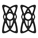 STARUBY Bike Phone Band Replacement Security Rubber Silicone Elastic Bands for Bicycle Bike, Motorcycle, Handlebar, Roll Bar Mount, Phone Mount Bands Universal Size, 2-Pack (Black)