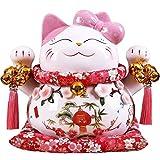 Hucha Cat Piggy Bank Shop Decoration Rosa Banco De Dinero Grande para Niños, Niñas, Niños, Banco De Monedas Adultas (Rosa) Caja de Efectivo
