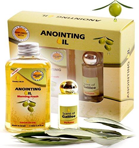 Aya Natural Anointing Oil From Israel - Vegan Holy Oil Blend of Frankincense and Myrrh Oil & Spikenard Anointing Oil (100 ML Bottle)