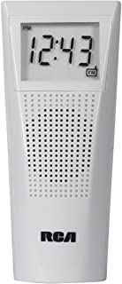 RCA BRC10 Bathroom Clock Radio (White)