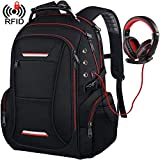 Large Travel Laptop Backpack for Men Fits up to 17.3 Inch Laptop RFID Water-Resistant Computer Bookbag for Business College School