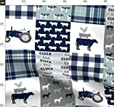 Bauernhof, Quilt, Wholecloth, Quiltoptik, Modisch Stoffe -