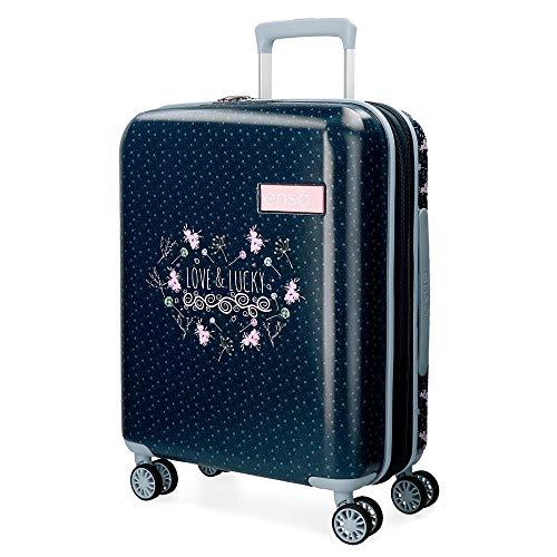 Enso Love and Lucky Maleta de cabina Multicolor 40x55x20 cms Rígida ABS Cierre TSA 44L 3,3Kgs 4 Ruedas dobles Extensible Equipaje de Mano