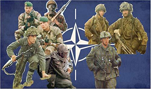 Italeri 510006191 1:72 Fig. NATO troepenmodelbouw, bouwpakket, standmodelbouw, knutselen, hobby, lijmen, plastic bouwpakket, gedetailleerd, ongelakt