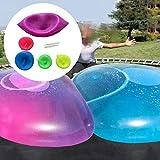 Bubble Balloon - Globo de agua transparente para adultos y niños, pelota hinchable, divertida, para la playa, para juegos de interior y exterior, con tubo de soplado (color aleatorio)