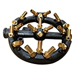 TFCFL Jet Burner, 20 Tips Round Shape Nozzle Jet Natural Gas Cast Iron Body with Brass Tips for Chinese Wok Range Grilling Stir Fry