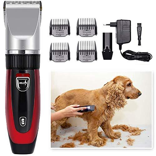 Draadloze Hondentondeuse Clippers Low Noise, stil oplaadbare Pet Hair Trimmer, Professional Dog Grooming Kit, beste scheerapparaat voor honden Katten Huisdieren