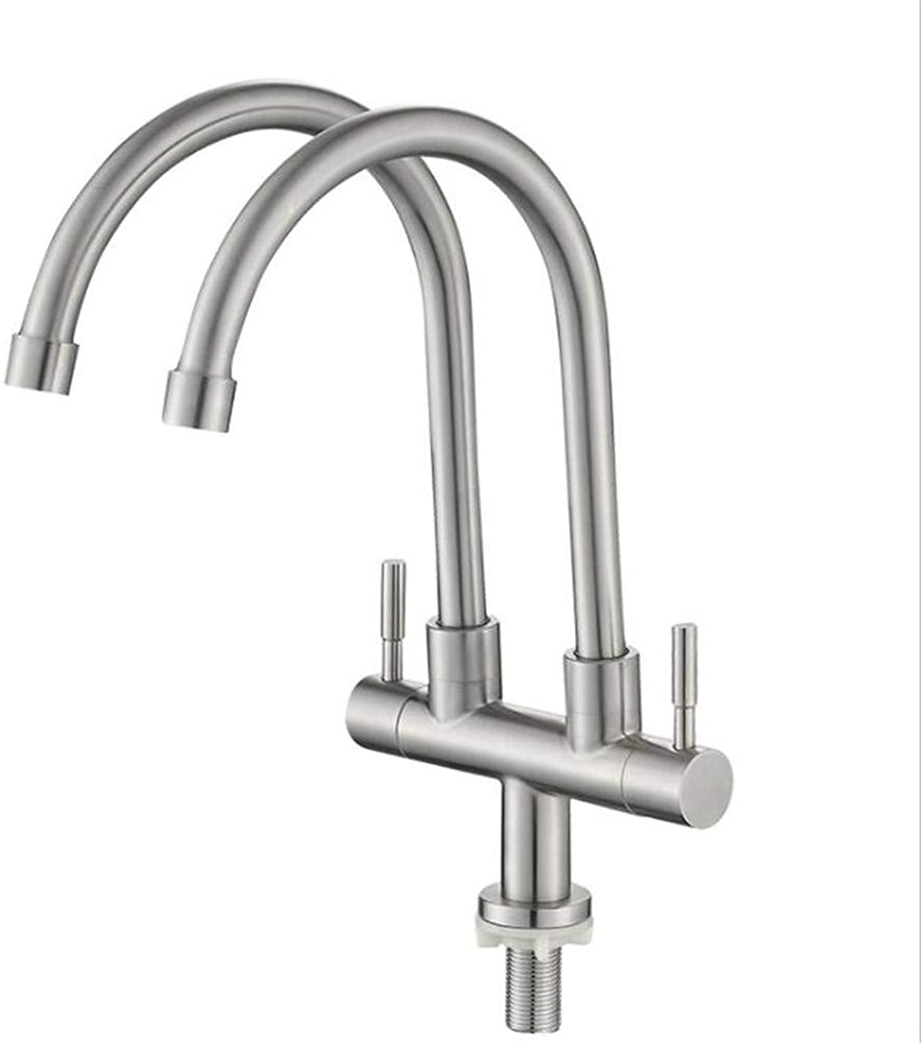 Taps Mixer?Swivel?Faucet Sink ?Stainless Steel Single-Cold greenical Double-Pipe Vegetable Basin Faucet redatable Sink Faucet