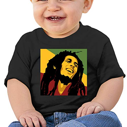 Cml519 Marley Art Flag Bob, Dreadlock, Rastafari, Reggae Baby T-Shirt,Baby T Shirts 6-24 Months