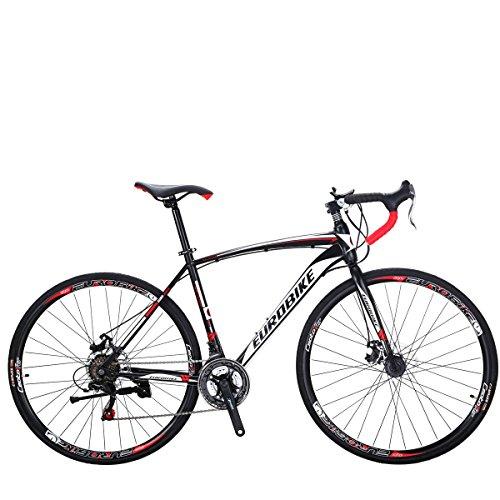 SL Bicicleta de Carretera 550 49 cm Marco 21 Velocidad Doble Disco Freno 700C Ruedas Bicicleta (30 Ruedas)