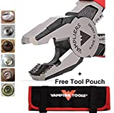 """VAMPLIERS. World's Best Pliers. 8"""" Pro VT-001-8 Lineman's Screw Extraction Pliers + Free Vampire Tools Pouch Black Friday Cyber Monday Week Deal, Make the Best Gift (Pliers W/Free Pouch)"""