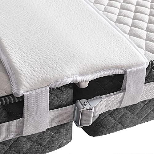 kavai Ponte dell'amore di alta qualità, 200 x 30 cm, ideale per famiglie e coppie – Cuneo materasso resistente alle bombe grazie alla cintura SafetyLock – riempitivo per materassi