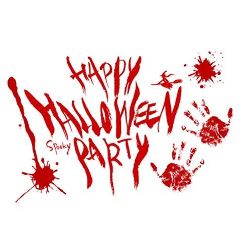 PRETYZOOM 2Pcs Halloween Blutige Handabdruck Aufkleber Horror Halloween Fenster Blutig Haftet Aufkleber