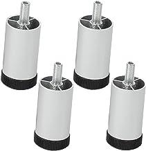 WaiMin 4x kast verstelbare meubels poten aluminium Diy Bed bank salontafel TV Bureau poten Verstelbare hoogte, totaal, met...